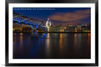 Blue hour in London, Framed Mounted Print