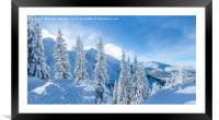 Winter in the Alps., Framed Mounted Print
