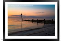 Sunset and the sea., Framed Mounted Print