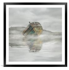 Mists in Dulas Bay Anglesey , Framed Mounted Print