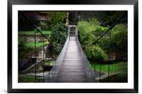 Rupit rope Bridge in spain, Framed Mounted Print