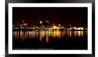 Liverpool Cityscape , Framed Mounted Print