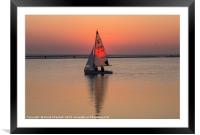 Sailing The Sunset, Framed Mounted Print