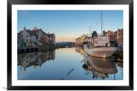 Reflections at the Shore, Leith, Framed Mounted Print
