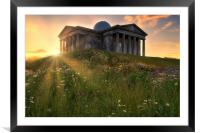 The City Observatory at Sunset, Framed Mounted Print