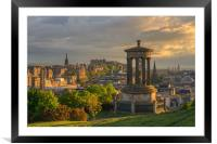 Edinburgh at Sunset from Calton Hill, Framed Mounted Print
