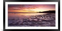 South Shields Beach, Framed Mounted Print