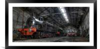 Tanfield Trains, Framed Mounted Print