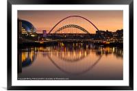 The Tyne Bridges, Framed Mounted Print