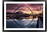 Millennium Bridge, Framed Mounted Print