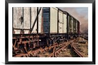 Old Train Carriages, Framed Mounted Print