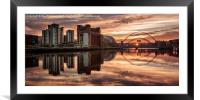 Tyne Reflections, Framed Mounted Print