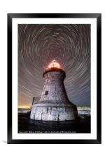 South Shields Lighthouse , Framed Mounted Print