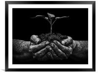 Life In My Fathers Hands, Framed Mounted Print