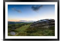 The Peak District , Framed Mounted Print