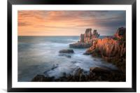 Sunset at Cobo , Framed Mounted Print
