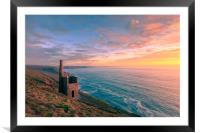 Wheal Coates tin mine  , Framed Mounted Print