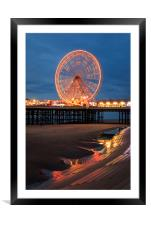 Blackpool at night , Framed Mounted Print