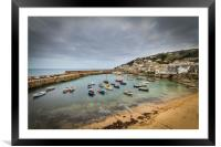Mousehole cornwall, Framed Mounted Print