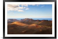 Timanfaya National Park, Lanzarote , Framed Mounted Print