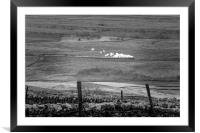 Steam trains in the yorkshire dales , Framed Mounted Print