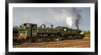 GWR pannier tank No 3650 4144 and large prairie lo, Framed Mounted Print