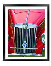 MG TF Classic Car , Framed Mounted Print