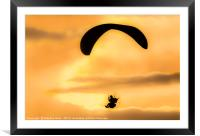 Sitting on a cloud, Framed Mounted Print