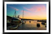 Boats by the sea, Framed Mounted Print