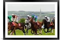 Horse Racing, Framed Mounted Print