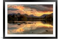 Derwent Water Twilight, Framed Mounted Print