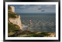 Beachy Head Flypast, Framed Mounted Print