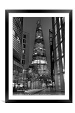 The Shard - London, Framed Mounted Print
