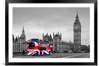 Union Jack Bus, Framed Mounted Print