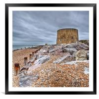 Martello Tower No 14, Framed Mounted Print