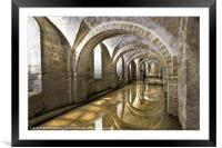Winchester Cathedral Crypt, Framed Mounted Print