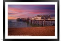 Brighton Pier Sunrise, Framed Mounted Print