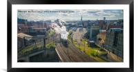 Flying Scotsman in Newcastle, Framed Mounted Print