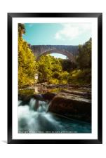 Portrait of Causey Arch, Framed Mounted Print