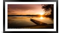 The Jetty, Framed Mounted Print