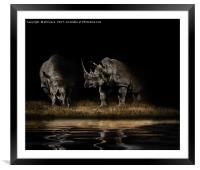 Out Of The Dark, Framed Mounted Print