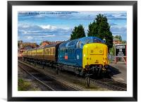 55019 Royal Highland Fusilier at Kidderminster SVR, Framed Mounted Print