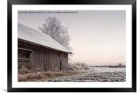 Frosty Morning On The Fields, Framed Mounted Print