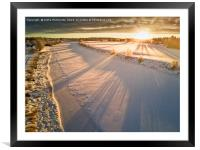 Winter Morning On The River, Framed Mounted Print