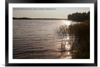 Morning By The Lake, Framed Mounted Print