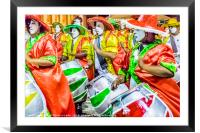 Group of Candombe Drummers at Carnival Parade of U, Framed Mounted Print