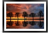 Sunset Chasers, Framed Mounted Print