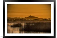 The Tor across the reserve, Framed Mounted Print