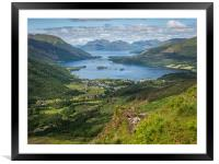 The path to the Pap of Glencoe, Framed Mounted Print