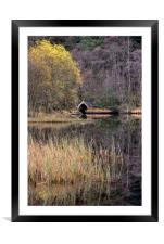 Old Boathouse on Loch Chon, Scotland, Framed Mounted Print